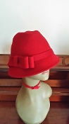 Red Fedora Hat (Wool)